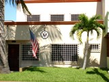 the exterior of the US consular agency in Mazatlán